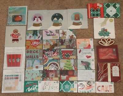 STARBUCKS Holiday Collectible Gift Card Christmas - LOT of 41 Cards - 2018