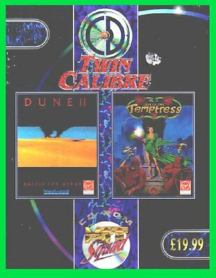 DUNE 2+LURE OF TEMPTRESS pc giochi cd rom cartonato big box BATTLE for ARRAKIS