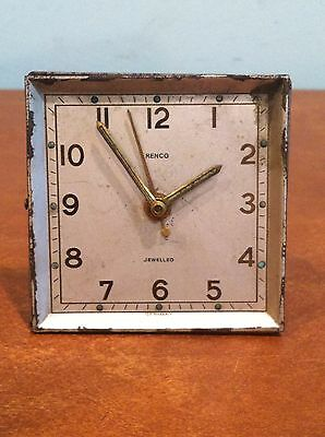 Vintage Renco Windup Travel Alarm Clock