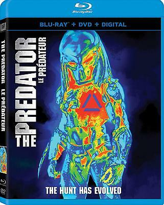 THE PREDATOR (2018) (Bilingual) [Blu-ray+DVD+Digital Copy] Canadian W/Slipcover