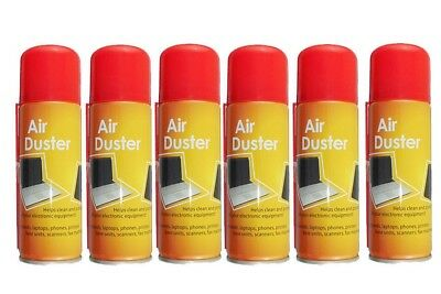 6 x 200ml Compressed Air Duster Cleaner Can Canned Laptop Keyboard Mouse Phones