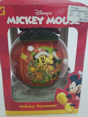 Disney Mickey Mouse and Minnie Mouse Holiday Ornament