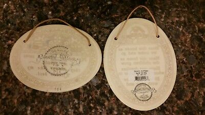 Two trinity pottery plaques