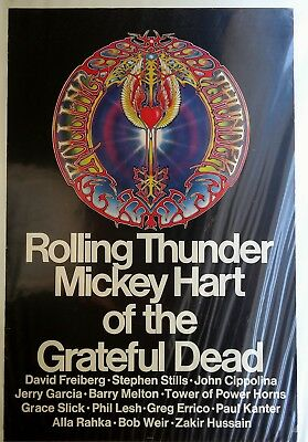 Rolling Thunder Mickey Hart of the Grateful Dead Original Poster 1972