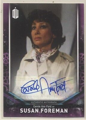 2018 Doctor Who Signature Series SUSAN FOREMAN Carole Ann Ford Autograph
