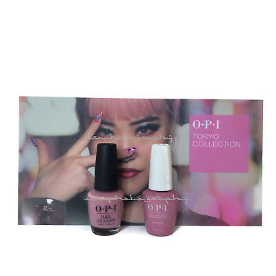 NEW OPI TOKYO GEL COLOR + MATCHING NAIL POLISH - Rice Rice Baby T80