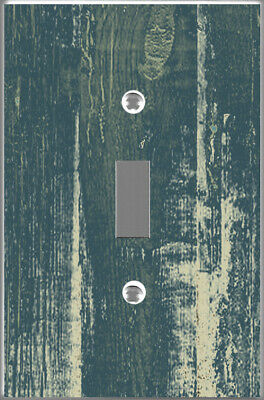 Blue white wash barn wood plank image Toggle - Single cover wall plate DIY decor