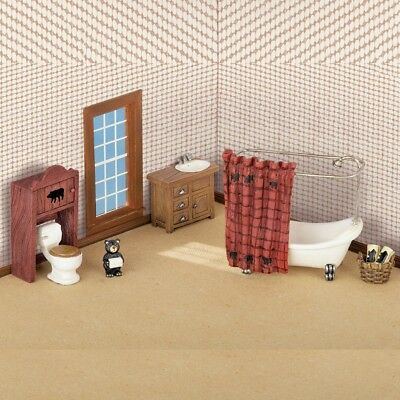 North Woods Cabin Miniature Bathroom Set - 5 Piece Set