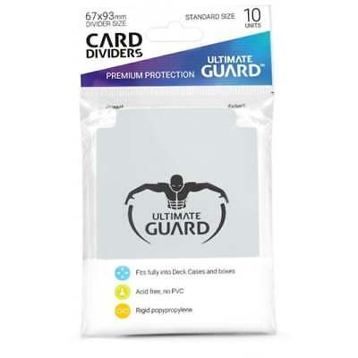 Ultimate Guard TRADING CARD STORAGE DIVIDERS PACK OF 10 - Transparent
