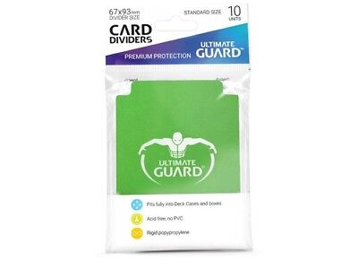 Ultimate Guard TRADING CARD STORAGE DIVIDERS PACK OF 10 - Green