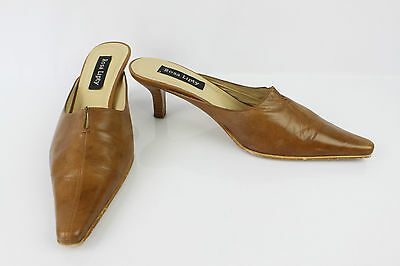 Backless shoe Sandals ROSA LIPTY Brown Leather T 39 VERY GOOD CONDITION