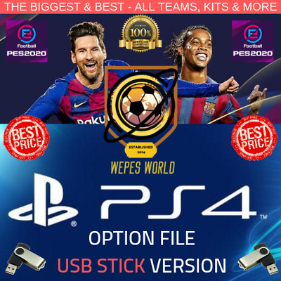 Pes 2020 Pre Order Option File Ps4 - Usb Stick Version - Launch Day Exclusive