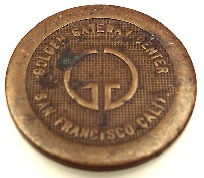 Vintage GOLDEN GATEWAY CENTER Courtesy Parking Token Coin San Francisco CA RARE