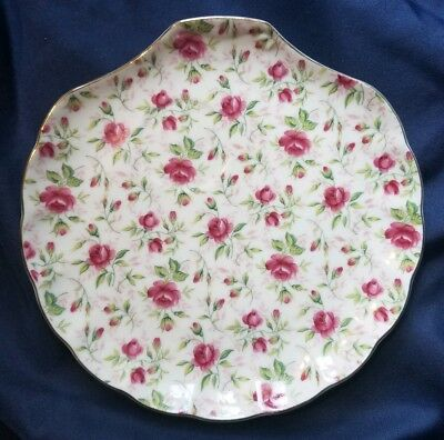 Lefton Hand Painted ROSE CHINTZ-Snack Plate ~Excellent ~ SHABBY CHIC ~ 20% OFF 2