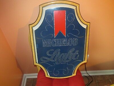 Vintage Michelob Light Beer sign Lighted  (VERY NICE)