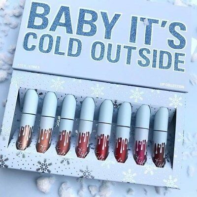 Kylie Jenner Baby Cold Cosmetic Holiday 2018 Collection Mini Lipstick 8ps Set UK