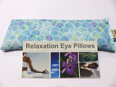 Cotton Eye Pillow Linseed Yoga MERMAID SCALES 24 x 8 cm Relax Lavender Unscented