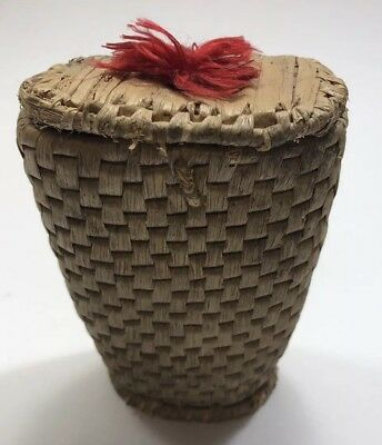 Vintage Native American Basket Hand Woven Very Small SHIPS FREE IN USA