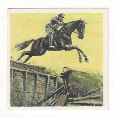 Horses in the Service of Man Trade Card - Cavalry Charger