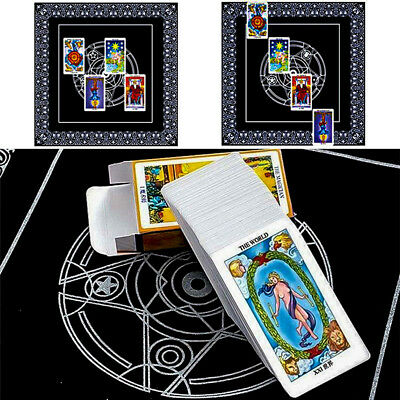 "19"" pentacle tarot game tablecloth board textiles tarots table cover 49CM"