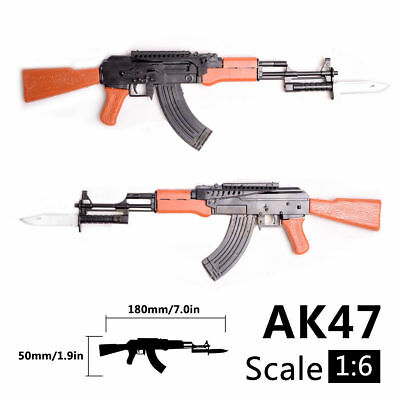"""1/6 Scale 1:6 Toy Model AK47 Weapon For 12"""" Action Figure Assembly Gift Toy"""