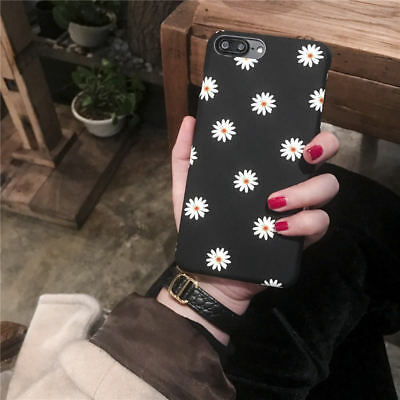 Shockproof Daisy Flower Hard Phone Case For iPhone X Xr Xs Max 5 6 6S 7 8 Plus