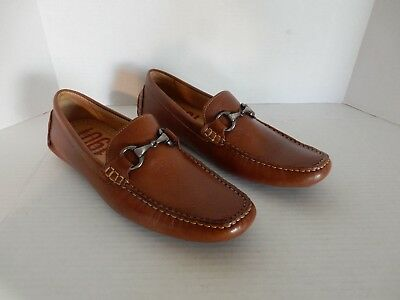 b5ffa983293 New 1901 Marco Driving Slip on Full Leather Cognac Color Men s Shoes size  8.5 M