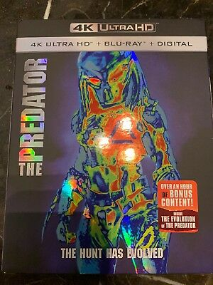 The Predator 2018 4K Ultra Hd Blu Ray 2 Disc Set And Slipcover