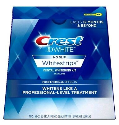 Crest 3D No Slip Whitestrips Professional Effects 40 Strips/20 exp date 7/20