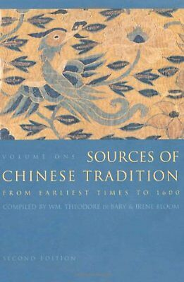 Sources of Chinese Tradition, Vol. 1