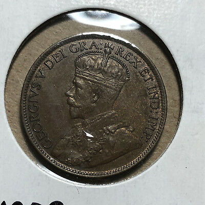 1913 Canada 1 Cent King George V Coin UNC+ Condition