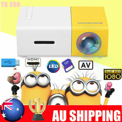 YG200 Portable 1080P HD Mini LED LCD Projector Home Cinema Theater USB SD HDMI