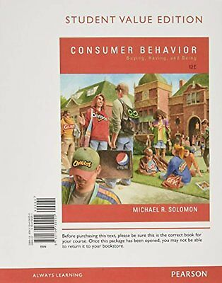 Consumer Behavior: Buying, Having, and Being, Student Value Edition (12th...