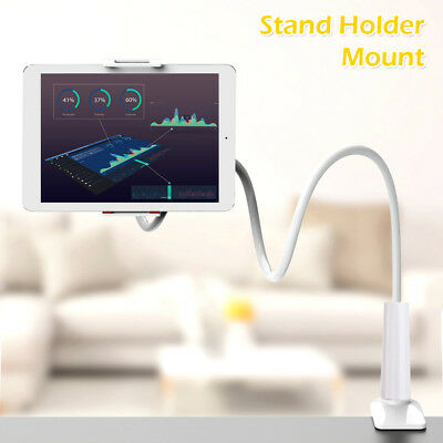 360 Gooseneck Table Bed Clamp Stand Holder Mount For iPad Tablet Flexible Arm CA