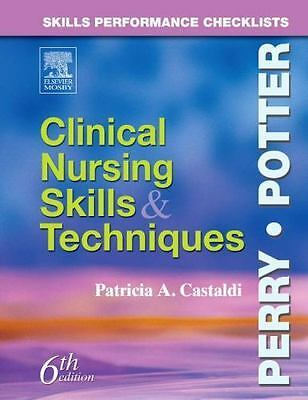 skills performance checklists clinical nursing skills and techniques
