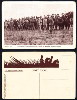 1914-18-Post Card-The Expeditionary Series-Australian Light Horse Parade for Ins