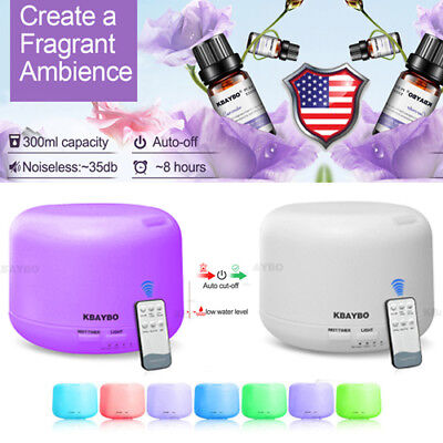 LED Aroma Diffuser Essential Oil Ultrasonic Humidifier Air Aromatherapy Purifier