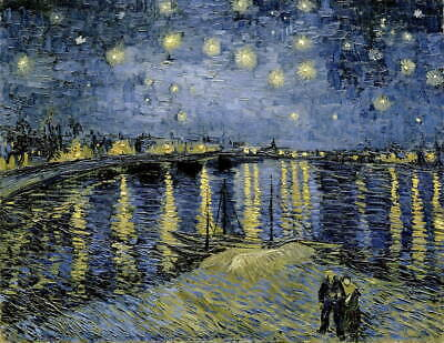 Vincent Van Gogh Starry Night Giclee Art Paper Print Poster Reproduction