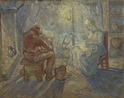Vincent Van Gogh Night After Millet Giclee Art Paper Print Poster Reproduction