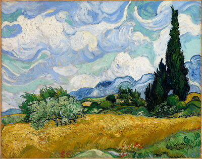 Vincent Van Gogh Wheat Field With Cypresses Giclee Paper Print Poster