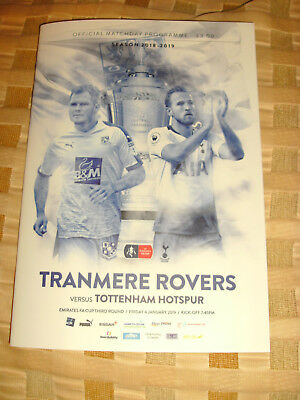 TRANMERE ROVERS v TOTTENHAM   FA CUP 100% OFFICIAL   4/1/2019