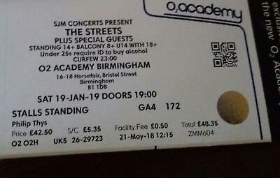 Streets Tickets x 2 19th Jan Birmingham