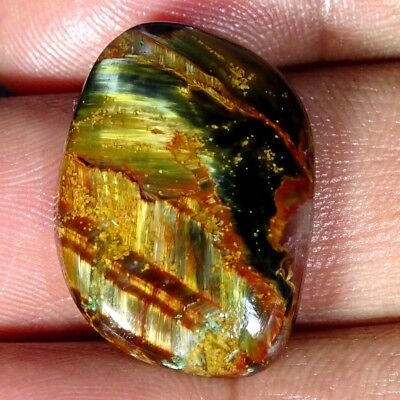 16.10Cts Natural Golden Pietersite Fancy Cabochon Loose Gemstone