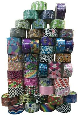 30 Roll Patterned & Plain Colour Duck Tape Bundle. Ideal for crafts and hobby