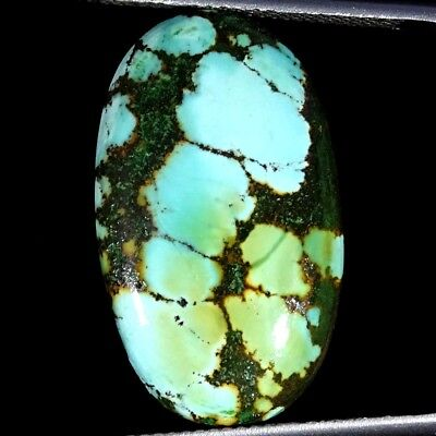15.30Cts 100% Natural Tibet Turquoise Oval Cabochon Loose Gemstone