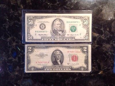 1993 $50 FRN - New York - STAR NOTE + 1953 B $2 United States Note
