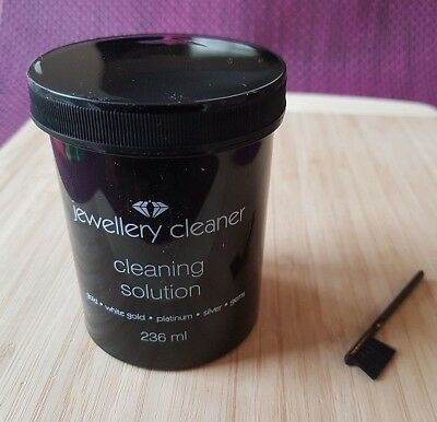 Jewellery Cleaner Cleaning Solution for Gold,White Gold,Silver,Platinum,Gems NEW