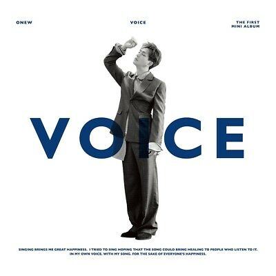 ONEW SHINee - VOICE [Random ver.] (1st Mini Album) CD+Photocard+Poster+Free Gift