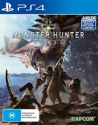 Monster Hunter World PS4 Game USED