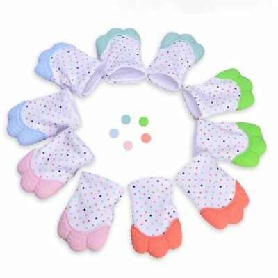 Baby Teething Mittens Self Soothing Pain Relief Mitt Stimulating Teether Toy wgG